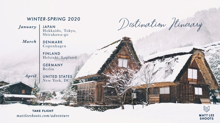 Winter Spring 2020 Destination Itinerary
